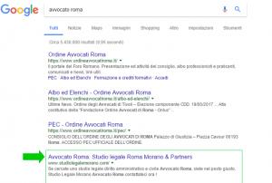prima pagina di google